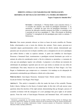 DIREITO ANIMAL E OS PARADIGMAS DE THOMAS KUHN