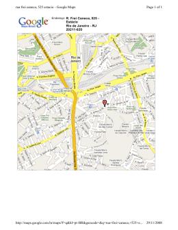 Page 1 of 1 rua frei caneca, 525 estacio