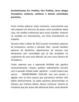 Eleição Mesa Diretora 01/01/2013