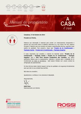 Relacionamento Com Clientes Carta Manual Ar Condicionado V02