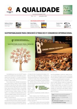 sustentabilidade para crescer é o tema do 9º congresso internacional
