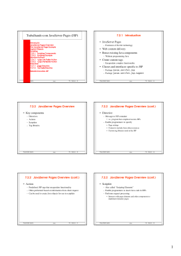 Trabalhando com JavaServer Pages (JSP)