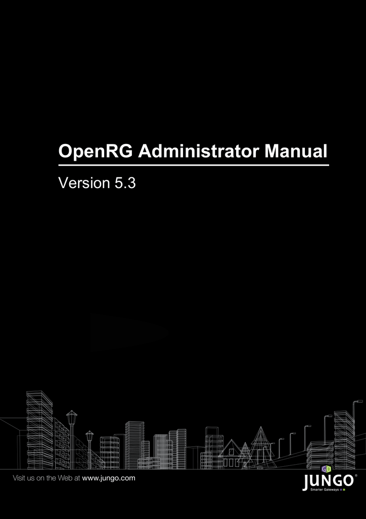 OpenRG Administrator Manual - Version 5 3