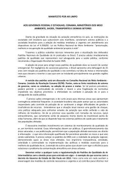 Manifesto por ar limpo - Instituto – Saúde e Sustentabilidade