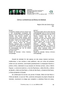 44 Regina Célia dos Santos Alves UEL Oswald de Andrade