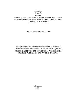 Mirani dos Santos Alves - Departamento de Matemática e Estatística