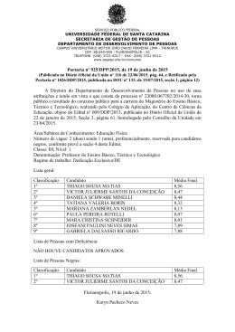 Homologação do Concurso – CA – Educação Física