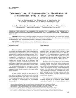 Orthodontic Use of Documentation in Identification of a
