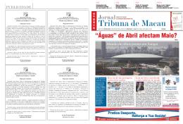 PDF - Jornal Tribuna de Macau