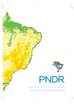 avaliação da política nacional de desenvolvimento regional