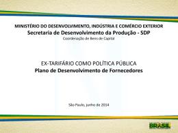 Secretaria de Desenvolvimento da Produção - SDP EX