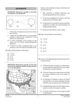 Prova de Geografia