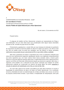 Documento enviado pela CNseg contendo considerações