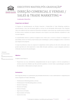 dire.!o comercial e vendas / sales & trade marketing