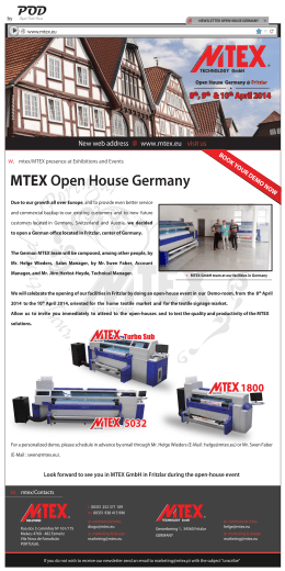 MTEX Open House Germany