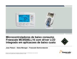 Microcontroladores de baixo consumo Freescale