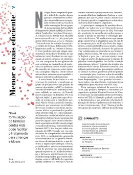 Menor e mais eficiente - Revista Pesquisa FAPESP