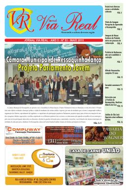 Ressaquinha lança Projeto Parlamento Jovem