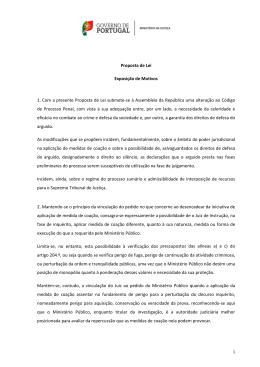 Projecto de Proposta de Lei que visa a alteração do Código de