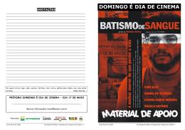 DOMINGO É DIA DE CINEMA - Núcleo Piratininga de Comunicação