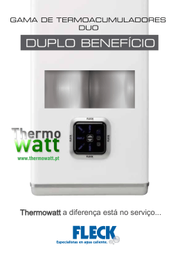 Catalogo do termoacumulador DUO