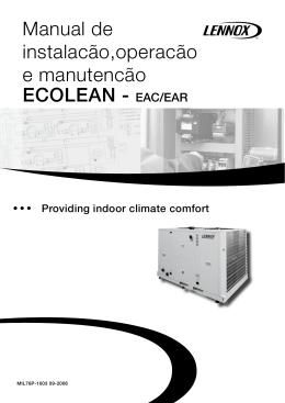 ECOLEAN - EAC/EAR Manual de instalacão,operacão e