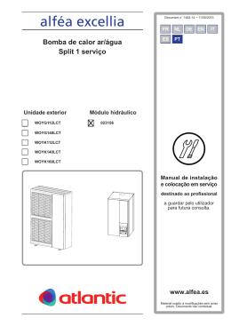 Manual de Instalação Alféa Excellia