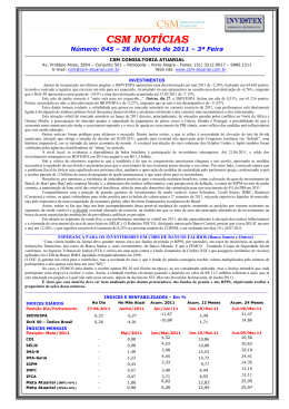 Informativo 045 Junho 2011