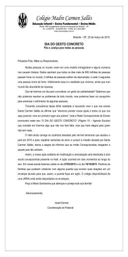 Clique aqui para visualizar - Colégio Madre Carmen Sallés