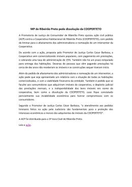 MP de Ribeirão Preto pede dissolução da COOPERTETO