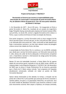 Projeto de Resolução n.º 802/XII/2.ª Recomenda ao Governo que