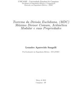Máximo Divisor Comum, Aritmética Modular e suas