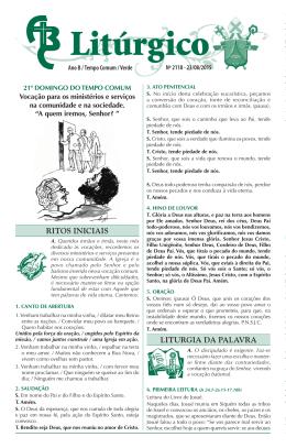 nº 2118 — 23/08/2015 — 21º domingo do