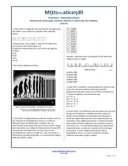 Lista 01 - Matematicando