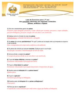Lista de Exercícios para o 7º ano [GABARITO]