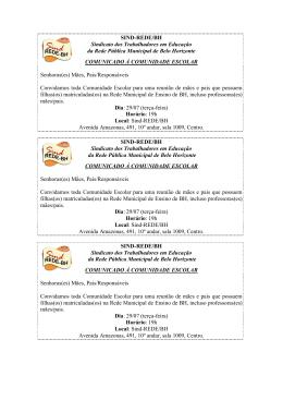 Convite Reunião mães/pais que possuem filhos matriculados na