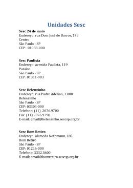 Clique aqui e confira endereços dos Sesc de todas