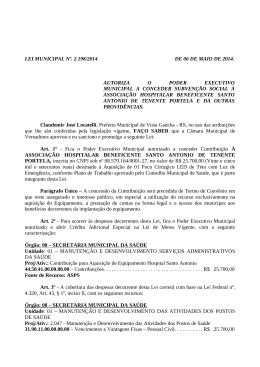 2.198 - Repasse Hospital Santo Antonio