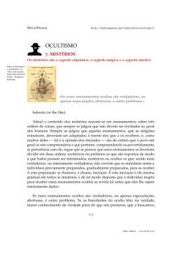 OCULTISMO - MultiPessoa