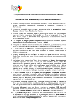 MODELO DE RESUMO EXPANDIDO