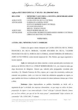 Superior Tribunal de Justiça - Aliança de Controle do Tabagismo