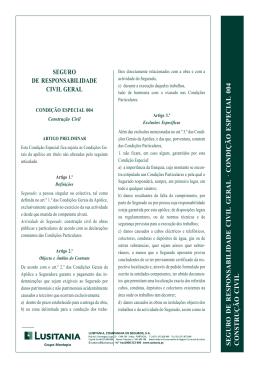 seguro de responsabilidade civil geral · condição