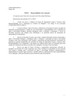 UNEP/CBD/COP/8/31 Página 284 /… VIII/29. Responsabilidade civil