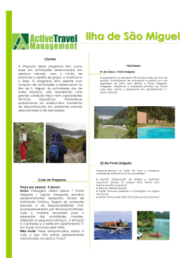 Ilha de São Miguel - Active Travel Management