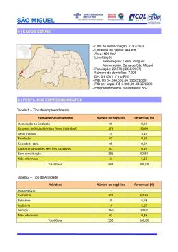 SÃO MIGUEL - Portal do Desenvolvimento Local
