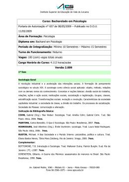 ementários e bibliografias - ppc versão 2009