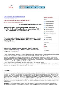 Arquivos de NeuroPsiquiatria