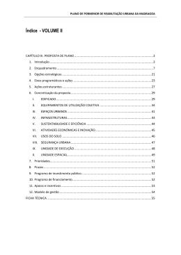 Proposta de Plano - versão rectificada pela Proposta 259/2015