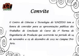 Convite - Unifeso