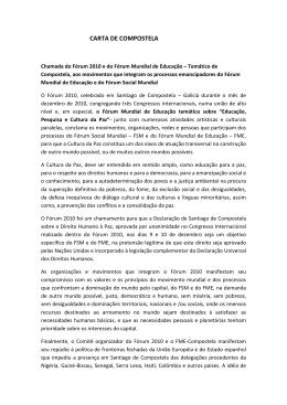 CARTA DE COMPOSTELA